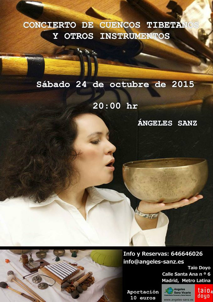 Concierto Cuencos tibetanos en Madrid, Angeles Sanz