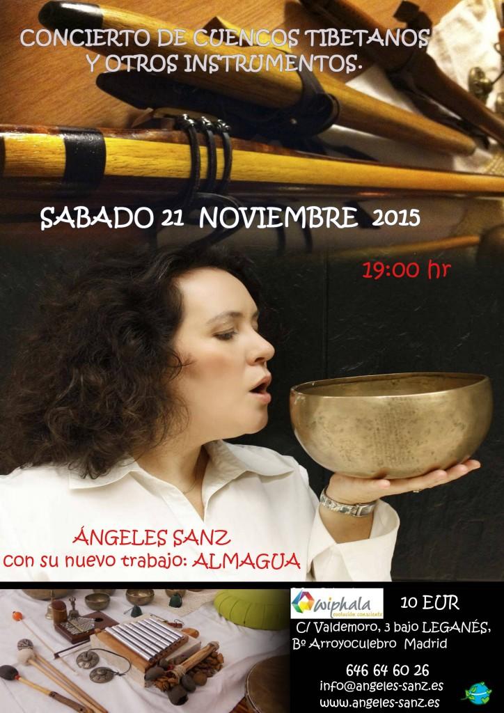 Concierto de cuencos en Noviembre en Madrid
